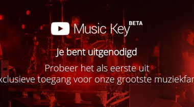 Music key uitnodiging van YouTube