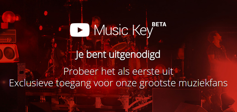 Music key uitnodiging van YouTube