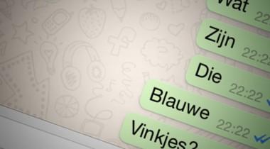 Blauwe vinkjes binnen whatsapp